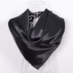 Čierna Šatka Saténová 90x90cm Black