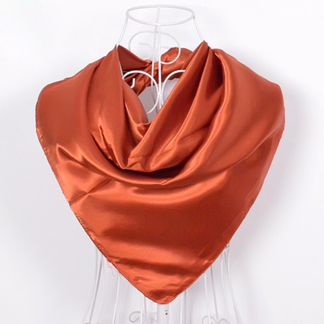 Oranžová Šatka Saténová 90x90cm Deep Orange