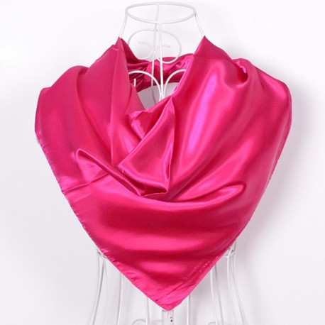 Hlboká ružová Šatka Saténová 90x90cm Deep pink