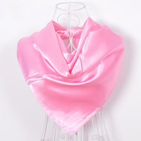 Ružová Šatka Saténová 90x90cm Pink