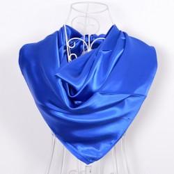 Modrá Šatka Saténová 90x90cm Blue
