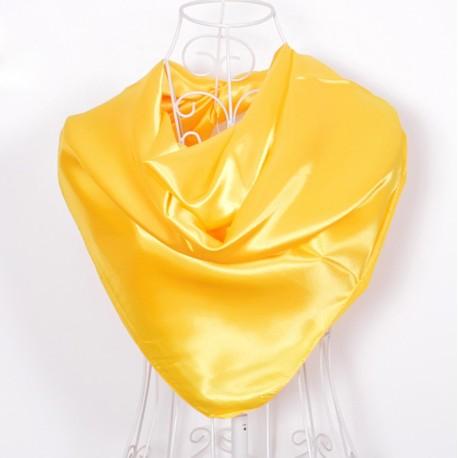 Žltá Šatka Saténová 90x90cm Yellow
