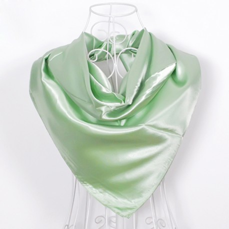 Svetlá Zelená Šatka Saténová 90x90cm FruitGreen