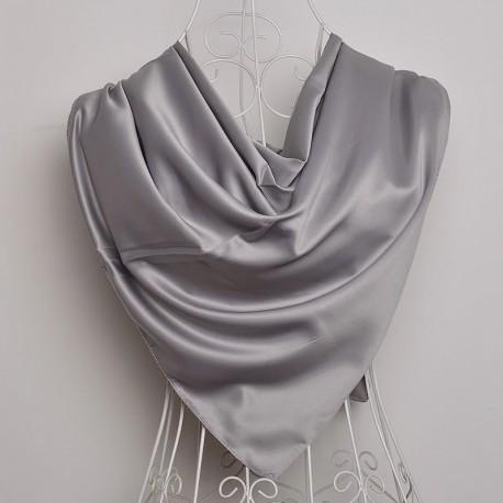 Metalická Šatka Saténová 90x90cm Grey