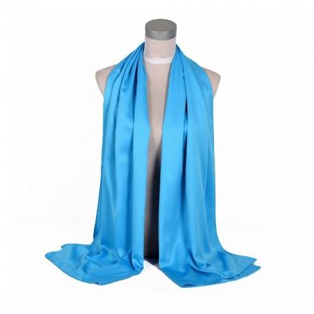 Nebeská Modrá Šatka Saténová 180x65cm SkyBlue