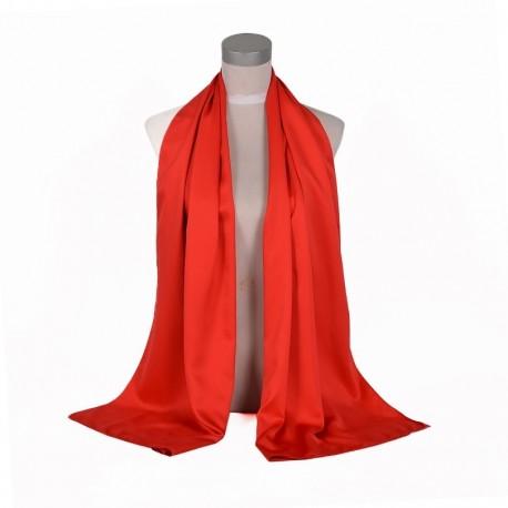 Červená Šatka Saténová 180x65cm Red