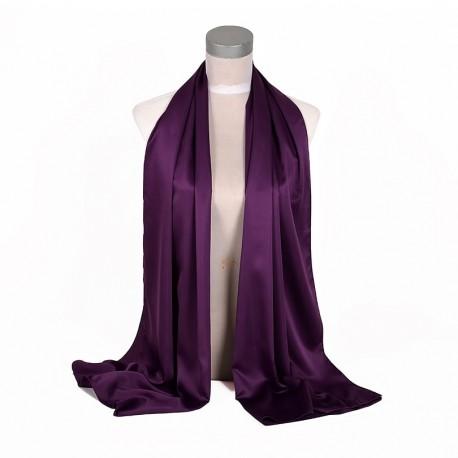 Fialová Šatka Saténová 180x65cm Purple