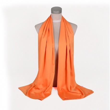 Oranžová Šatka Saténová 180x65cm Orange