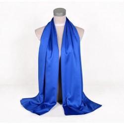 Modrá Šatka Saténová 180x65cm Blue