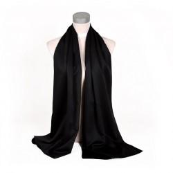 Čierna Šatka Saténová 180x65cm Black