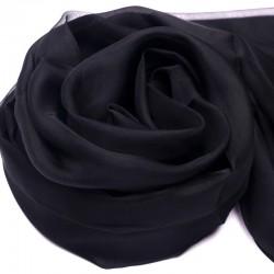 Čierna Hodvábna Šatka 200x140cm Black Momme 6