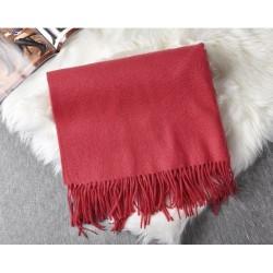 Červený Zimný Šál 180x64cm Kašmírový (Imitated Cashmere)