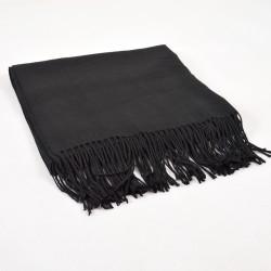 Čierny Zimný Šál 180x64cm Kašmírový (Imitated Cashmere)