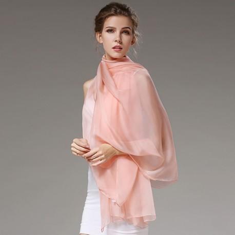 Ružová Hodvábna Šatka 200x140cm Pink