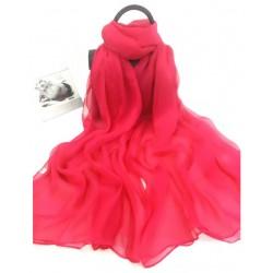 Červená Hodvábna Šatka 200x140cm Red